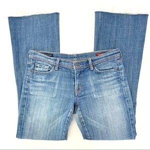 COH Ingrid #002 Low Waist Flare Frayed Jeans 31X31